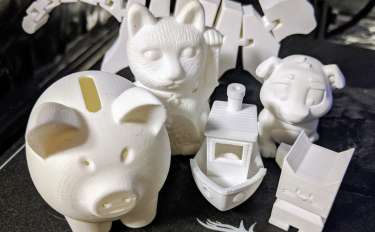 A collection of 3D printed objects